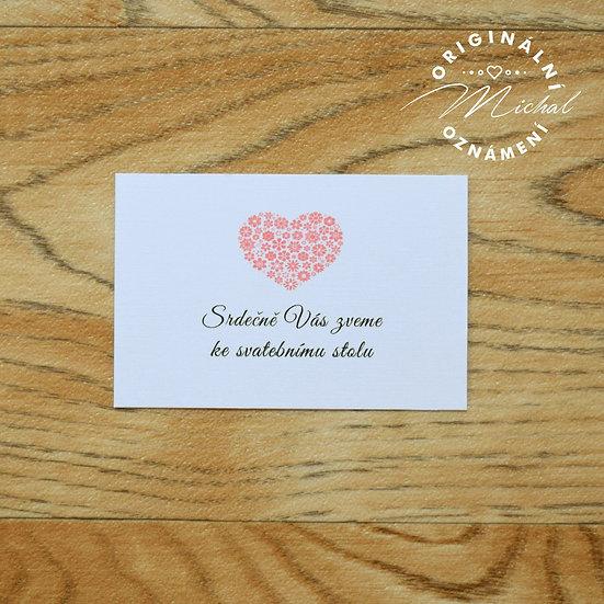 Pozvánka ke svatebnímu stolu - TYP 47