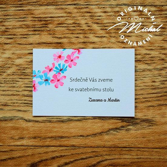 Pozvánka ke svatebnímu stolu - TYP 54
