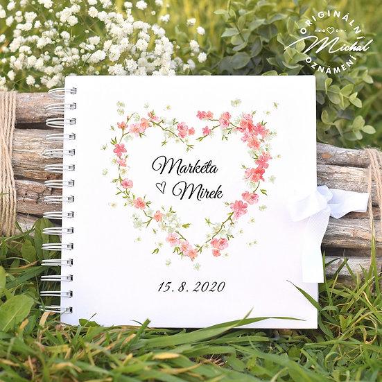 Svatební kniha hostů v pevných knižních deskách - 8