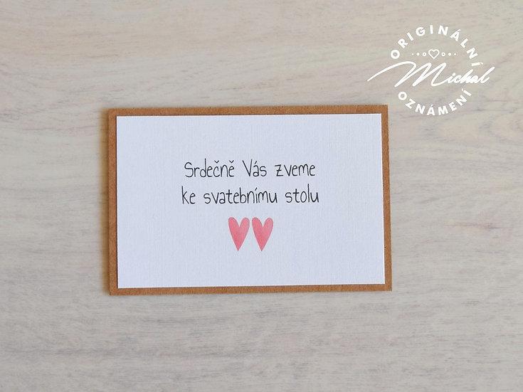 Pozvánka ke svatebnímu stolu - TYP 11