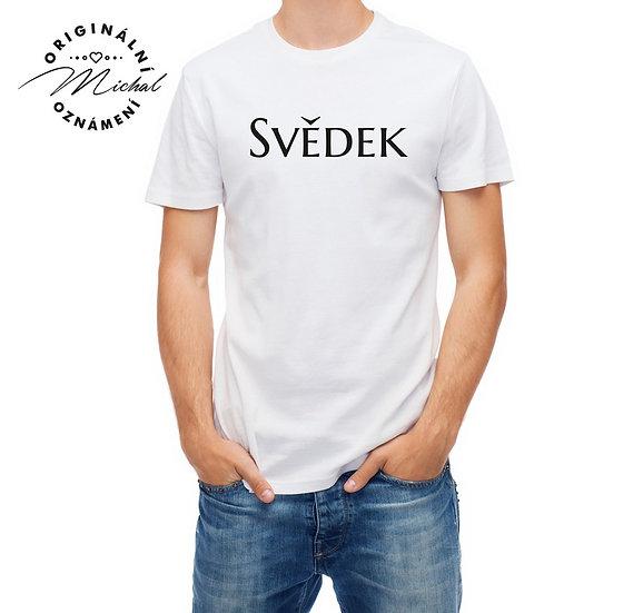 Pánské svatební tričko s potiskem - P12