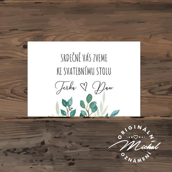 Pozvánka ke svatebnímu stolu - TYP 286