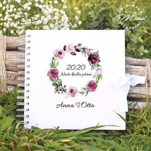 Svatební kniha hostů v pevných knižních deskách - 25