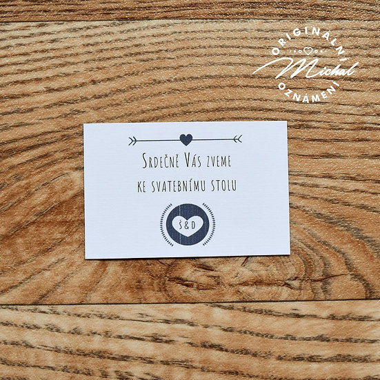 Pozvánka ke svatebnímu stolu - TYP 31