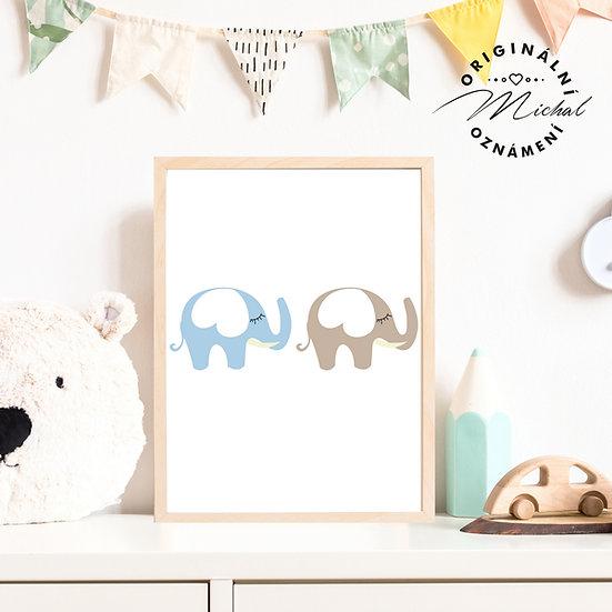 Plakát sloníci