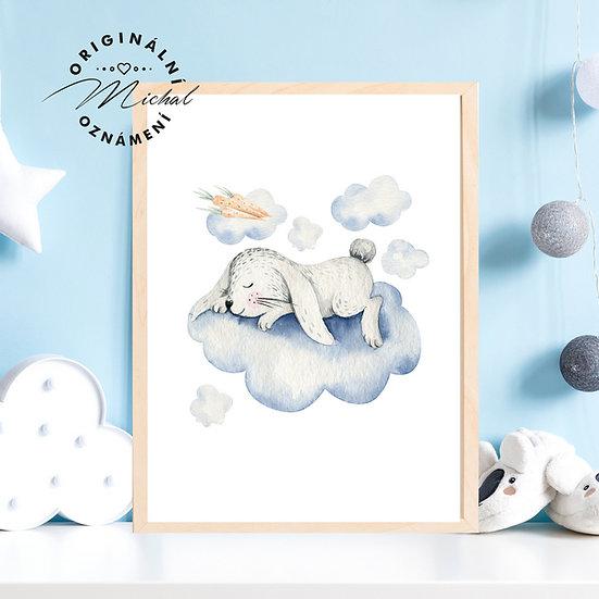 Plakát spinkající zajíček