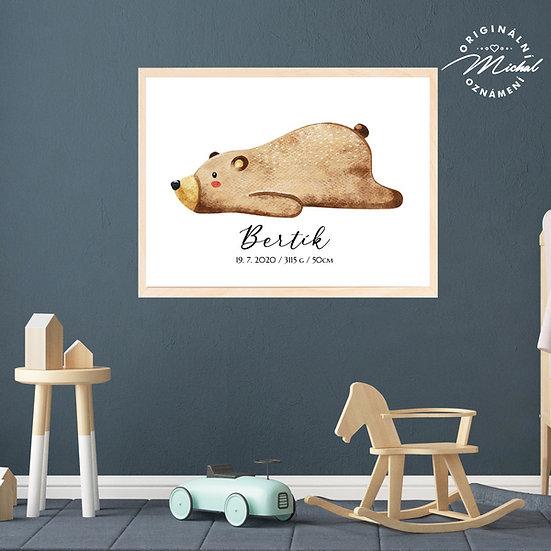 Plakát medvídek méďa bertík