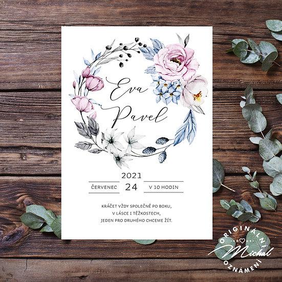 Svatební oznámení - TYP 323