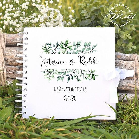 Svatební kniha hostů v pevných knižních deskách -33