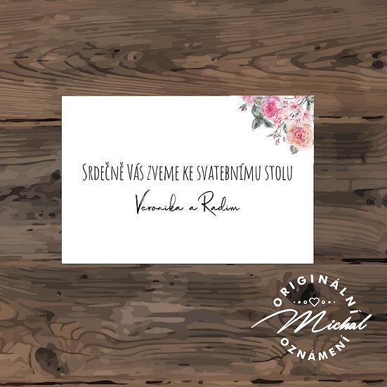Pozvánka ke svatebnímu stolu - TYP 83