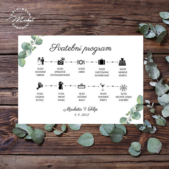 Svatební program - P15