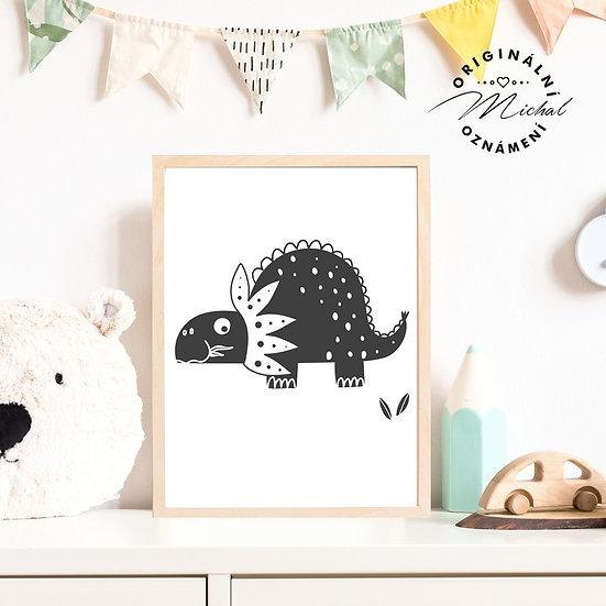 Plakát dinosaurus diník 6 pro kluky