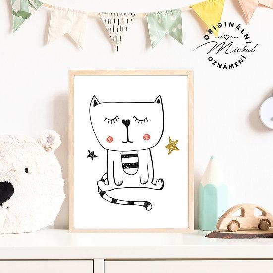 Plakát kočka kočička Sabinka