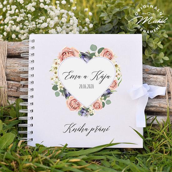 Svatební kniha hostů v pevných knižních deskách - 21
