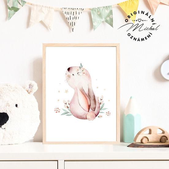 Plakát zajíček holčička 3