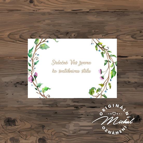 Pozvánka ke svatebnímu stolu - TYP 72
