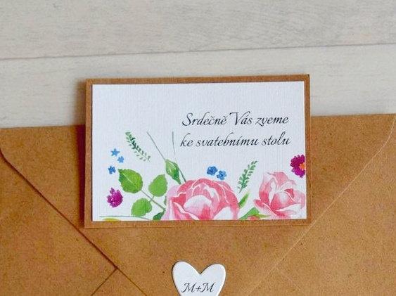 Pozvánka ke svatebnímu stolu - TYP 29