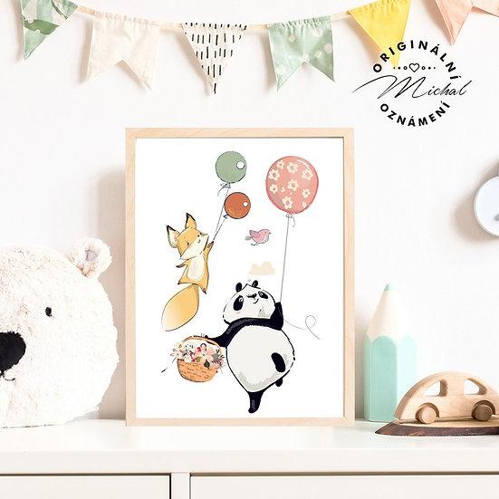 Plakát liška a panda