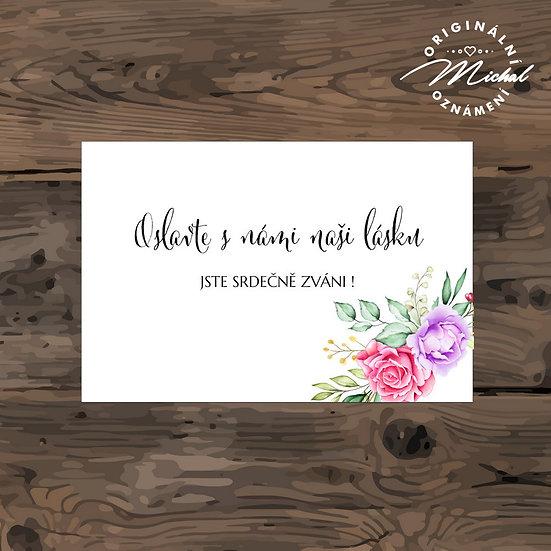 Pozvánka ke svatebnímu stolu - TYP 259