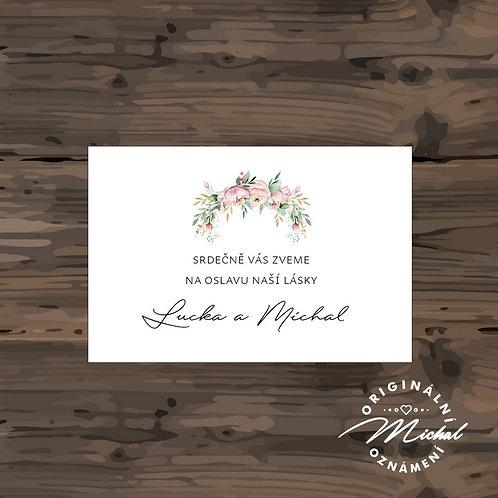 Pozvánka ke svatebnímu stolu - TYP 296