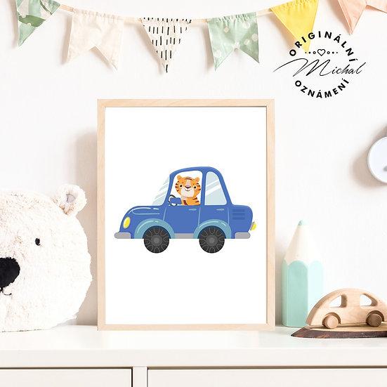 9 - Modré auto