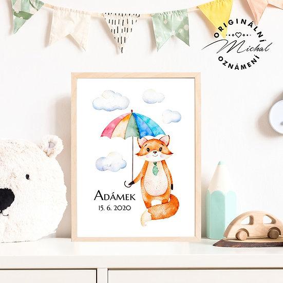 Plakát lišáčej se jménem dítěte 47