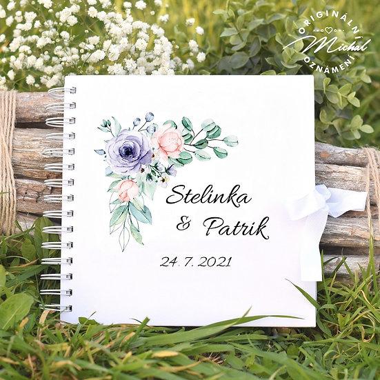 Svatební kniha hostů v pevných knižních deskách - 54