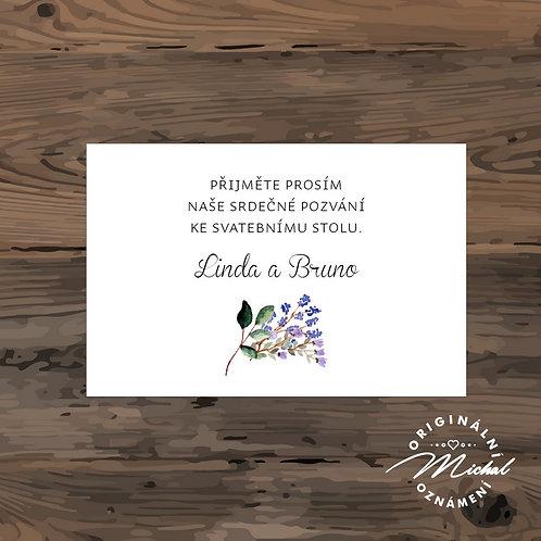 Pozvánka ke svatebnímu stolu - TYP 233