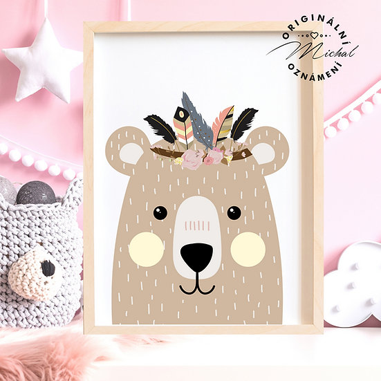Plakát medvídek indián