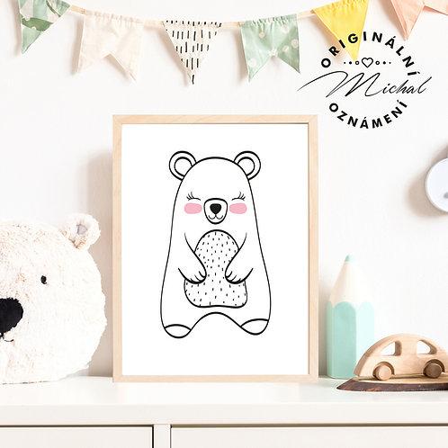 Plakát medvídek Miloušek 2