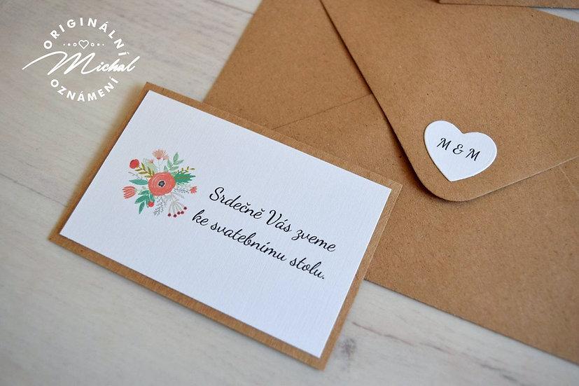 Pozvánka ke svatebnímu stolu - TYP 06
