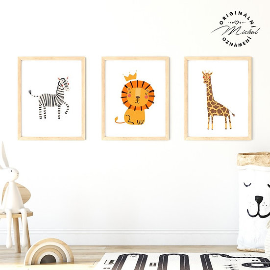 Plakát set africká zvířátka