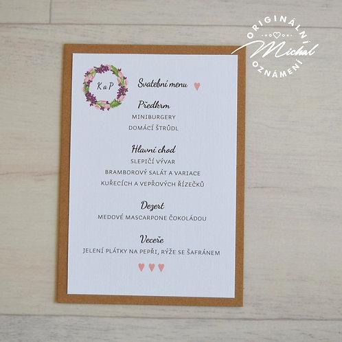 Svatební menu - TYP 03