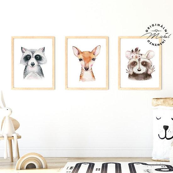 Plakát set zvířátka 1
