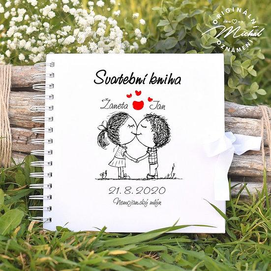 Svatební kniha hostů v pevných knižních deskách - 37