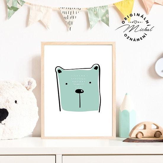 Plakát moderní medvídek pro děti