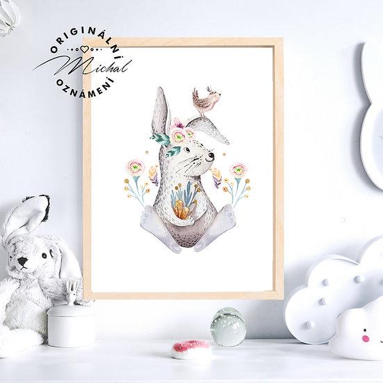 Plakát Zajíček Mrkvička