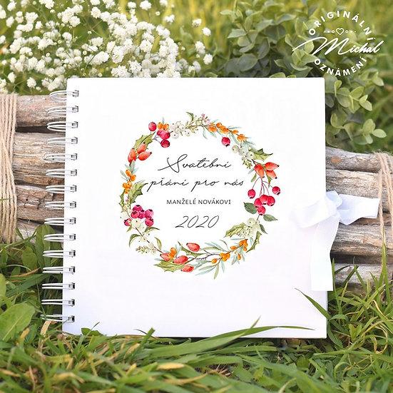 Svatební kniha hostů v pevných knižních deskách - 28