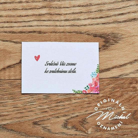 Pozvánka ke svatebnímu stolu - TYP 34