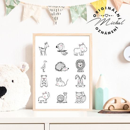 Plakát zvířátka