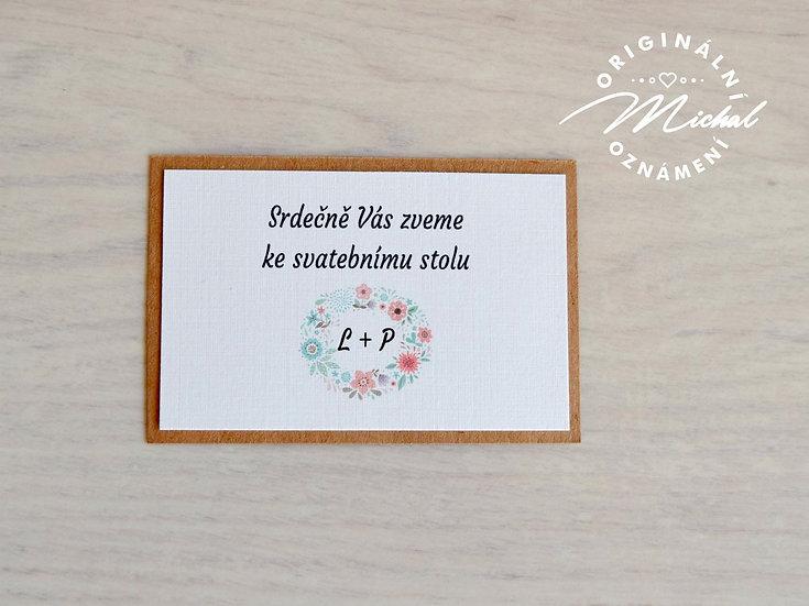 Pozvánka ke svatebnímu stolu - TYP 18