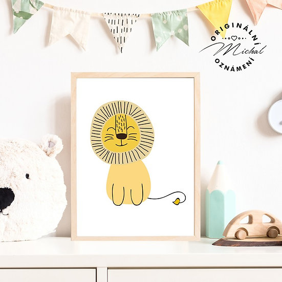 Plakát lev lvíček