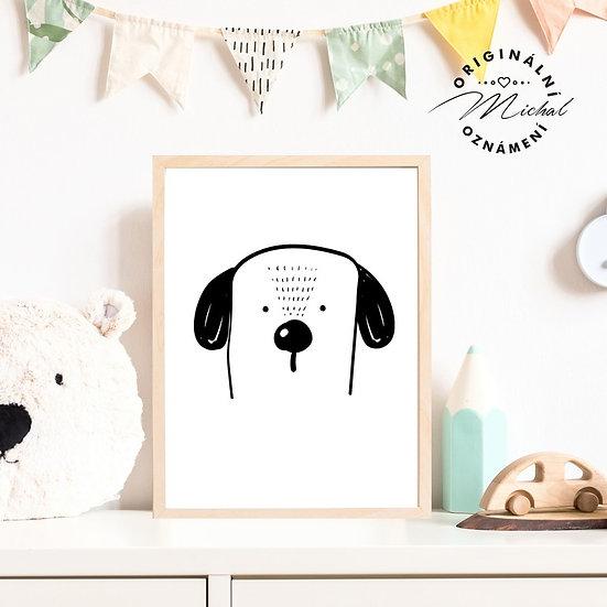 Plakát moderní pejsek pro děti