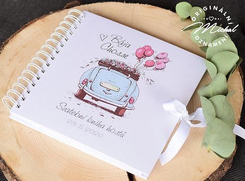 Svatební kniha hostů v pevných knižních deskách - 19