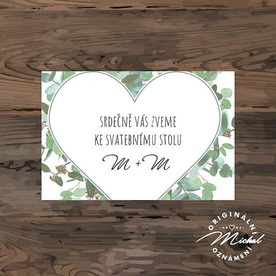 Pozvánka ke svatebnímu stolu - TYP 215