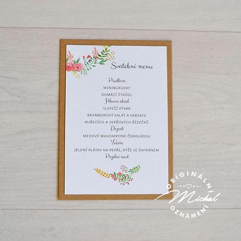 Svatební menu - TYP 20