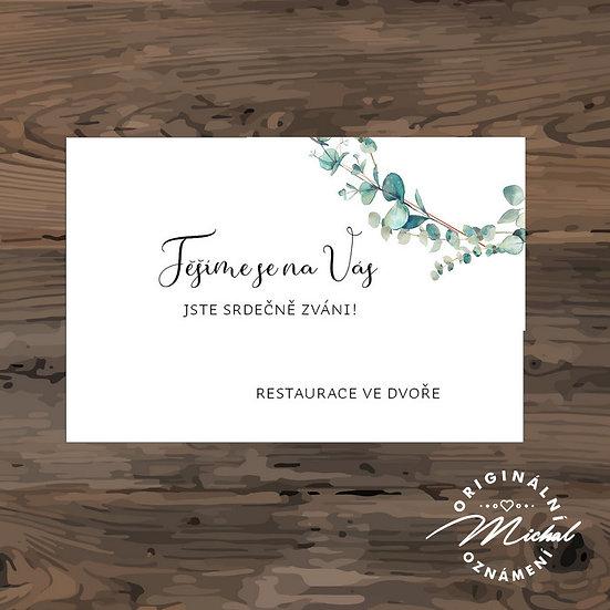 Pozvánka ke svatebnímu stolu - TYP 330