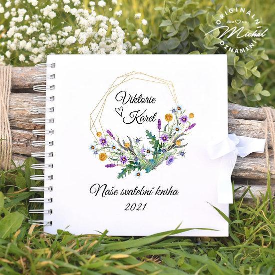 Svatební kniha hostů v pevných knižních deskách - 85