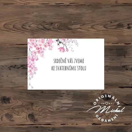 Pozvánka ke svatebnímu stolu - TYP 188