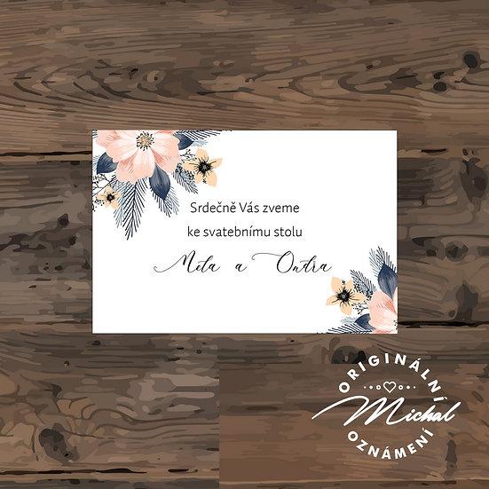 Pozvánka ke svatebnímu stolu - TYP 146